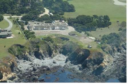 aerial view of the Colbert DAC-ART coastal home on the Pacific in northern California