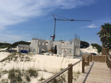 DAC-ART white stone construction of coastal home in Gulf Shores